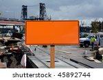 a blank orange construction... | Shutterstock . vector #45892744