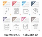 set of infographic elements... | Shutterstock .eps vector #458938612
