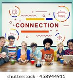connection networking online...   Shutterstock . vector #458944915