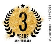 three years anniversary symbol. ... | Shutterstock .eps vector #458947096