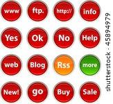 internet glossy icons. vector... | Shutterstock .eps vector #45894979