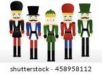 set of five nutcrackers | Shutterstock .eps vector #458958112