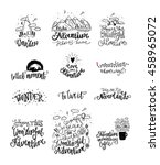 wonderful adventure lettering.... | Shutterstock .eps vector #458965072
