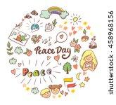 symbols peace for international ... | Shutterstock .eps vector #458968156