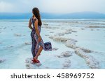 Young Woman Going To Dead Sea ...