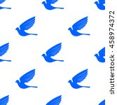 vector fly dove seamless... | Shutterstock .eps vector #458974372