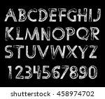 handwritten calligraphic.... | Shutterstock .eps vector #458974702