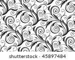 vector seamless floral pattern | Shutterstock .eps vector #45897484