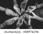 group of young people... | Shutterstock . vector #458976196