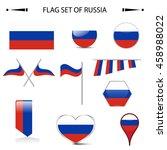 flag of russia vector set | Shutterstock .eps vector #458988022