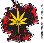 germany cannabis legalization... | Shutterstock .eps vector #458988976