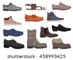 Men Boots Isolated Set. Male...