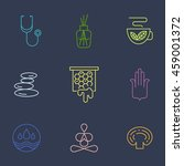 alternative medicine icons part ... | Shutterstock .eps vector #459001372