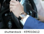 businessman driving his car ... | Shutterstock . vector #459010612