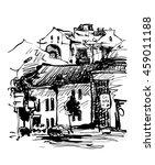 original black and white... | Shutterstock .eps vector #459011188