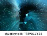 abstract blue fractal... | Shutterstock . vector #459011638