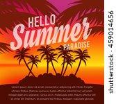 summer illustration. vacation... | Shutterstock .eps vector #459014656