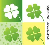 four leaf clover design with...