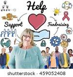 help support fundraising donate ...   Shutterstock . vector #459052408