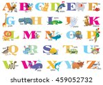 english alphabet for children... | Shutterstock .eps vector #459052732