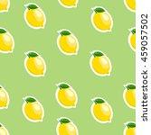 lemon sticker lime background.... | Shutterstock .eps vector #459057502