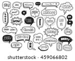 set of cute speech bubble with... | Shutterstock .eps vector #459066802