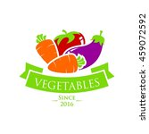 vegetable and healthy food logo ... | Shutterstock .eps vector #459072592