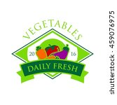 vegetable and healthy food logo ... | Shutterstock .eps vector #459076975