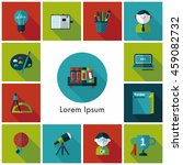 school and education icons set | Shutterstock .eps vector #459082732