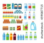 big set of store products in... | Shutterstock .eps vector #459087715