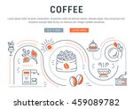 flat line illustration of... | Shutterstock .eps vector #459089782