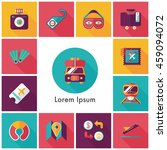 travel and tourism icons set | Shutterstock .eps vector #459094072