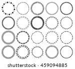 hand drawn ethnic brushes set.... | Shutterstock .eps vector #459094885