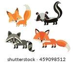 cute animals. squirrel  skunk ... | Shutterstock .eps vector #459098512
