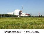 nuclear power plant at brokdorf ... | Shutterstock . vector #459103282