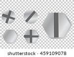 metal screw head  at... | Shutterstock .eps vector #459109078