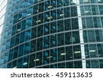 skyscrapers with glass facade.... | Shutterstock . vector #459113635