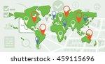 vector illustration of world... | Shutterstock .eps vector #459115696