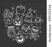halloween icons set using... | Shutterstock .eps vector #459121516