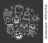 halloween icons set using... | Shutterstock .eps vector #459121516