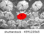 umbrella standing out from the... | Shutterstock . vector #459123565