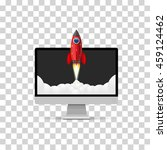 rocket takes off from the... | Shutterstock .eps vector #459124462