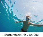 man dives into the sea | Shutterstock . vector #459128902