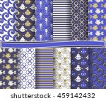 set of abstract vector paper... | Shutterstock .eps vector #459142432
