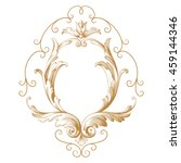 vintage baroque ornament. retro ... | Shutterstock .eps vector #459144346