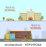 school buildings. flat style... | Shutterstock .eps vector #459149266