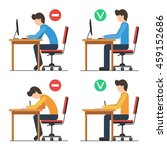 correct and incorrect back... | Shutterstock .eps vector #459152686