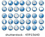 vector illustration of blue... | Shutterstock .eps vector #45915640