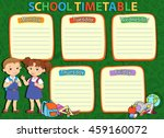 school timetable thematic image ... | Shutterstock .eps vector #459160072
