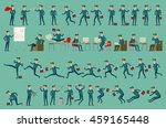 business man isolated set male... | Shutterstock . vector #459165448